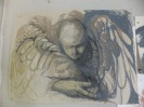 Angel, oilstick pencil. Sold