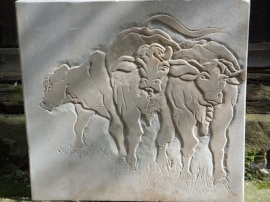 Cows, Ancasterstone. 40cmx40cmx5cm. £475