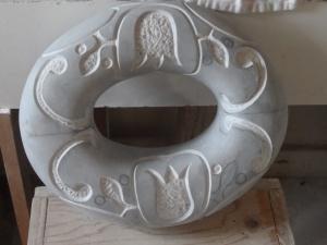 Tulip pattern  Bardiglio marble